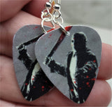 Jason Voorhees Friday the 13th Guitar Pick Earrings