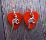 Kangaroo Charm Guitar Pick Earrings - Pick Your Color