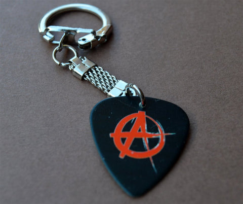 Anarchy Guitar Pick Keychain