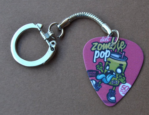 Zombie Pop Guitar Pick Keychain