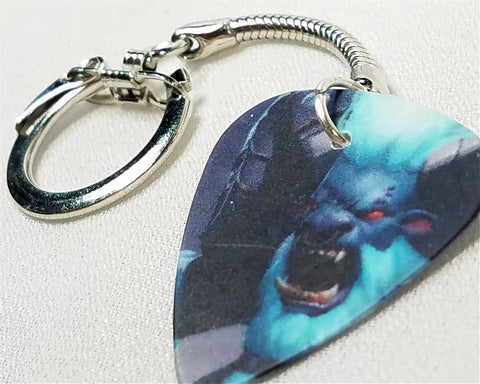 DOTA 2 Defense of the Anciets Barathrum Guitar Pick Key Chain
