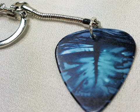 Blue Eye Guitar Pick Keychain