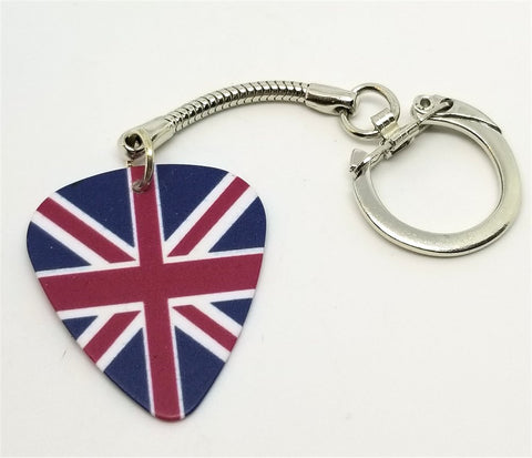 British Flag Guitar Pick Keychain