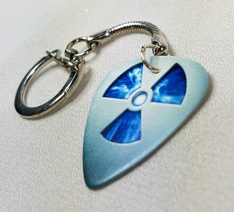 Nuclear Symbol Guitar Pick Keychain