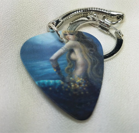 Beautiful Mermaid Guitar Pick Key Chain