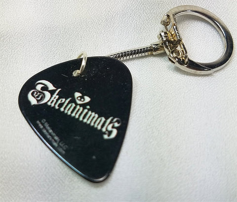 Skelanimals Logo Guitar Pick Keychain