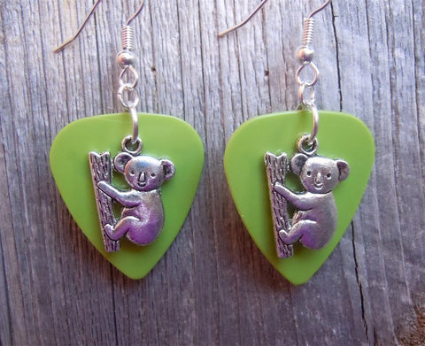 Koala Bear Guitar Pick Earrings - Pick Your Color