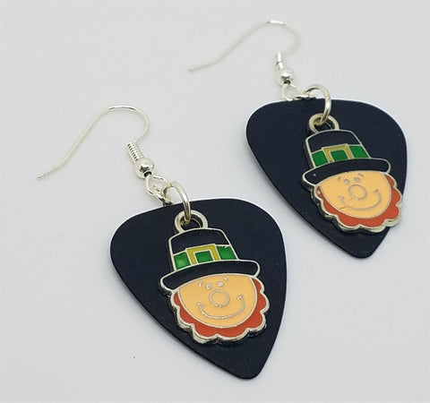 Leprechaun Charm Guitar Pick Earrings - Pick Your Color