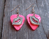 Lip Charm Guitar Pick Earrings - Pick Your Color