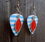 Red Lip Charms Guitar Pick Earrings - Pick Your Color