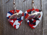 Manatee Charm Guitar Pick Earrings - Pick Your Color