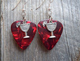 Margarita Charm Guitar Pick Earrings - Pick Your Color