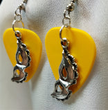 Eye Mask Charm Guitar Pick Earrings - Pick Your Color