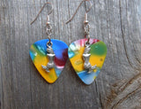 Mermaid Charm Guitar Pick Earrings - Pick Your Color