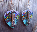 Microphone Charm Guitar Pick Earrings - Pick Your Color
