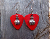 Money Bag Charm Guitar Pick Earrings - Pick Your Color