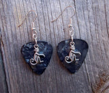 Monkey Charm Guitar Pick Earrings - Pick Your Color