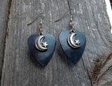 Half Moon with a Star Charm Guitar Pick Earrings - Pick Your Color
