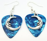 Half Moon Charm Guitar Pick Earrings - Pick Your Color