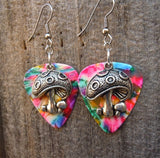 Mushrooms Charm Guitar Pick Earrings - Pick Your Color