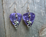 Note and Clef Guitar Pick Earrings - Pick Your Color