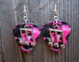 Music Triple Note Charm Guitar Pick Earrings - Pick Your Color