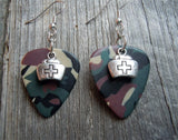Nurse's Cap Charm Guitar Pick Earrings - Pick Your Color
