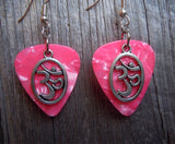 Ohm Encircled Charm Guitar Pick Earrings - Pick Your Color