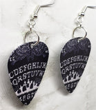 Ouija Board Guitar Pick Earrings