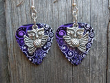 Flying Owl Guitar Pick Earrings - Pick Your Color
