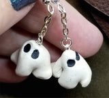 Dangling Ghosts Polymer Clay Earrings