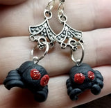 Dangling Spider Polymer Clay Earrings