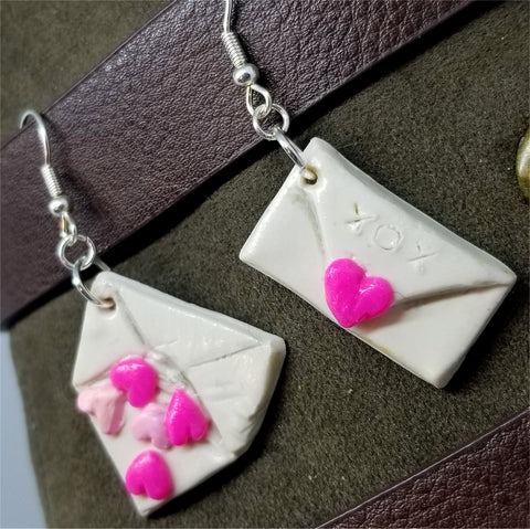 Love Letter Polymer Clay Earrings