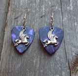 Pegasus Charm Guitar Pick Earrings - Pick Your Color