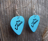 Pick Jesus Guitar Pick Earrings - Pick Your Color