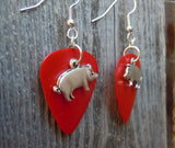 Pig Charm Guitar Pick Earrings - Pick Your Color