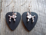 Poodle Charm Guitar Pick Earrings - Pick Your Color
