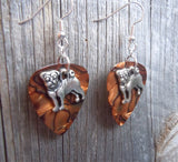 Pug Dog Charm Guitar Pick Earrings - Pick Your Color