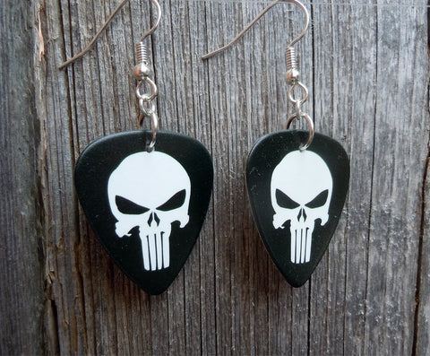 Punisher Guitar Pick Earrings