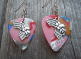 Rainbow Charm Guitar Pick Earrings - Pick Your Color