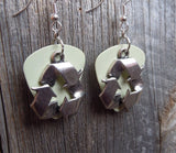 Reduce, Reuse, Recycle Charm Guitar Pick Earrings - Pick Your Color