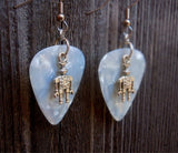 Robot Charm Guitar Pick Earrings - Pick Your Color