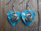Sailboat Charm Guitar Pick Earrings - Pick Your Color