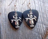 Scarecrow Charm Guitar Pick Earrings - Pick Your Color