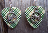 Scottie Dog Charm Guitar Pick Earrings - Pick Your Color