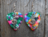 Seahorse Charm Guitar Pick Earrings - Pick Your Color