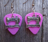 Singer Sewing Machine Charm Guitar Pick Earrings - Pick Your Color