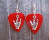 I Love You Sign Language Guitar Pick Earrings