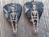 Skeleton Guitar Pick Earrings - Pick Your Color