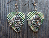 Pirate Skull with Bandana Charm Guitar Pick Earrings - Pick Your Color